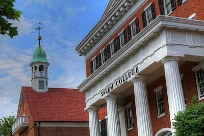 Photograph - Moravian Church And Salem College In Winston Salem Nc by Carol Montoya