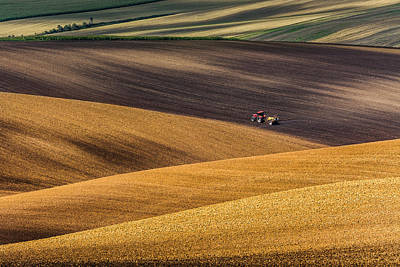 Moravian Fields Art Print