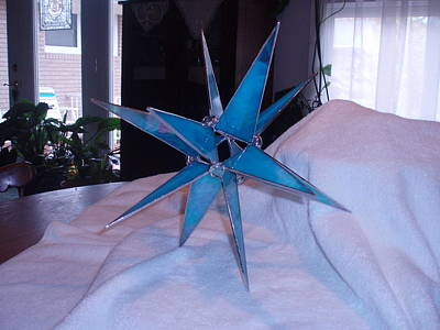 Glass Art - Moravian Star Tree Topper by Liz Lowder