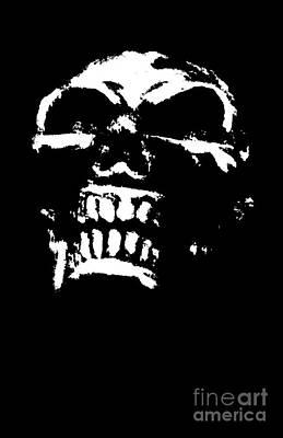 Morbid Skull Art Print by Roseanne Jones