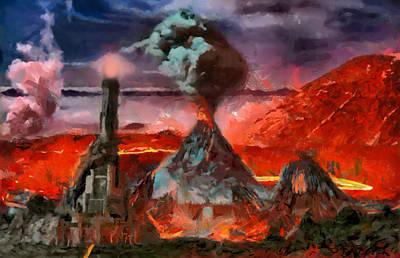 Digital Art - Mordor Panorama by Mario Carini