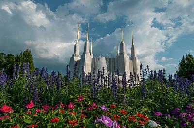 Photograph - More Building, Less Flowers Lds by Brian Green