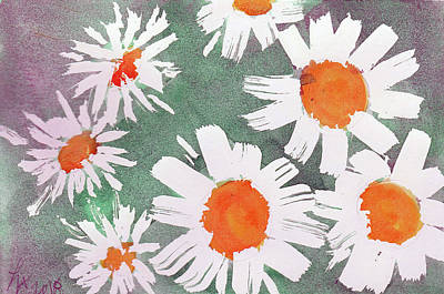 Painting - More Bunch Of Daisies by Loretta Nash