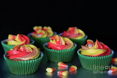 More Candy Corn Cupcakes Original by Tracy Hall