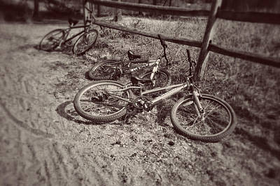 Photograph - More Deserted Cycles by Kathi Isserman