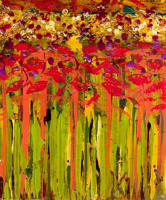 Art Therapy Mixed Media - More Flowers In The Field by Angela L Walker