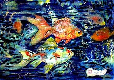 More Gold Fish Art Print by Norma Boeckler