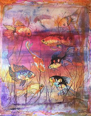 Mixed Media - More Goldfish by Edith Hardaway