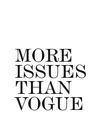 Photograph - More Issues Than Vogue - Minimalist Print by Studio Grafiikka