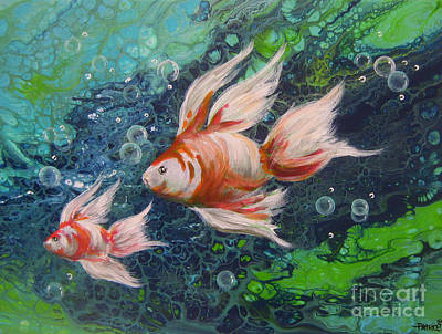 Painting - More Little Fishies by Patrice Torrillo
