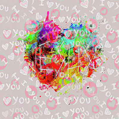 Digital Art - More Love by Payet Emmanuel