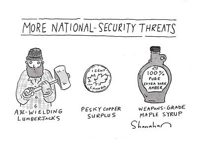 Drawing - More National-security Threats by Danny Shanahan