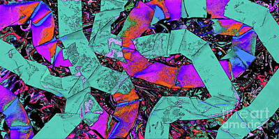 Digitally Manipulated Painting - More Paper Snakes  by Expressionistart studio Priscilla Batzell