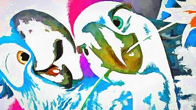 Many Faces Digital Art - More Rare Birds by Catherine Lott