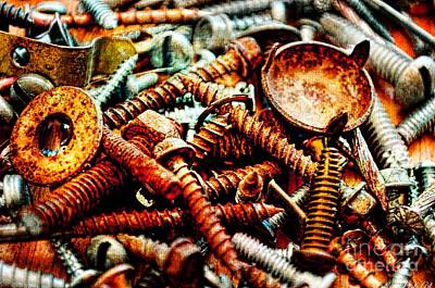 Photograph - More Rusty Screws II by Debbie Portwood