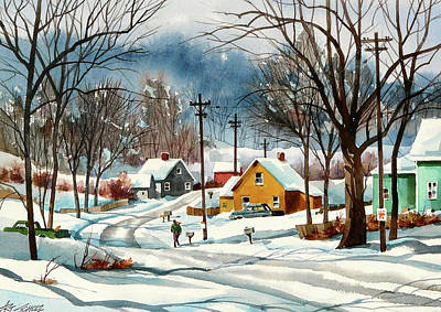 Painting - More Snow by Art Scholz