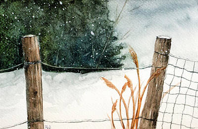 Painting - More Snow On The Way by Rebecca Davis