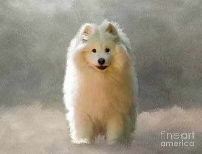 Dog In Snow Digital Art - More Snow Please by Lois Bryan