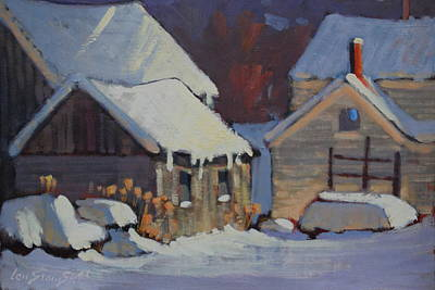 Painting - More Snow Predicted by Len Stomski