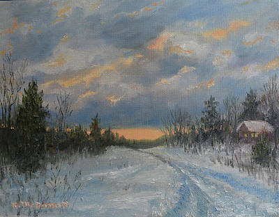 Painting - More Snow Tonight by Kathleen McDermott