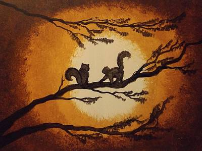 Painting - More Squirrels by Sunshine Ammerman