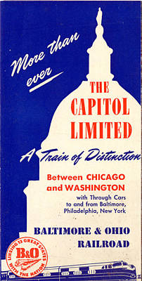 Drawing - More Than Ever, The Capitol Limited by Baltimore and Ohio Railroad