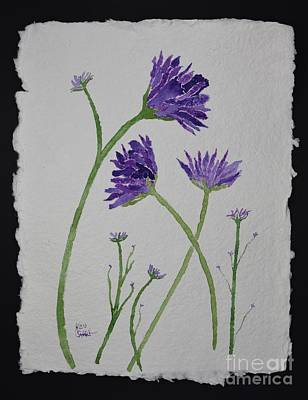 Painting - More Wildflowers In Purple by Barrie Stark