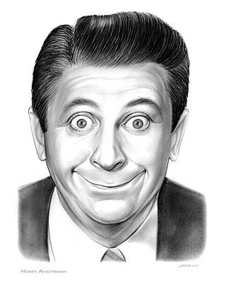 Drawing - Morey Amsterdam by Greg Joens