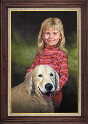 Portraits Painting - Morgan And Winston by Harold Shull