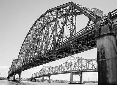 Photograph - Morgan City Bridges 1 by Gregory Daley  PPSA