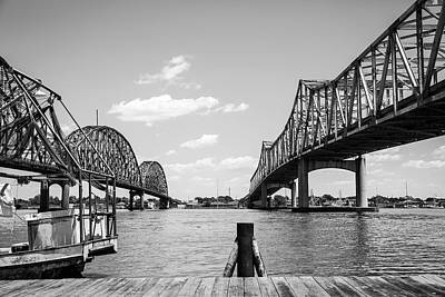 Photograph - Morgan City Bridges 2 by Gregory Daley  PPSA