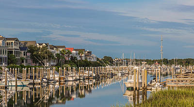Photograph - Morgan Creek Morning  - Wild Dunes Resort Sc by Donnie Whitaker