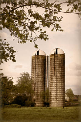 Photograph - Morgan Dairy Grain Silos by Patricia Montgomery