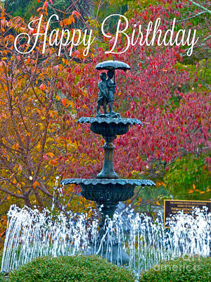 Photograph - Morgan Fountain by Jean Wright