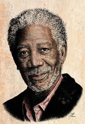 Morgan Freeman Colour Edit Art Print by Andrew Read