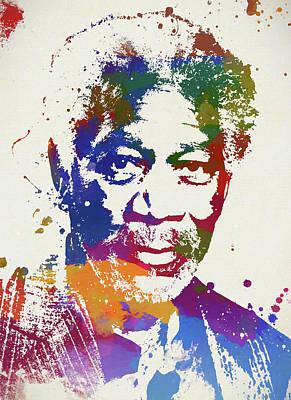 Painting - Morgan Freeman by Dan Sproul
