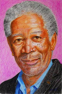 Painting - Morgan Freeman by David Hawkes