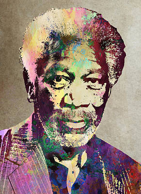 Morgan Freeman Art Print