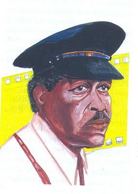 Art Print featuring the painting Morgan Freeman by Emmanuel Baliyanga