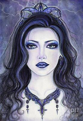 Choker Painting - Morgan Le Fay by Renee Lavoie