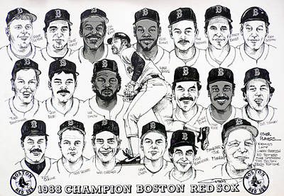 Red Sox Baseball Drawing - Morgan Magic And The East Championship Newspaper Poster by Dave Olsen
