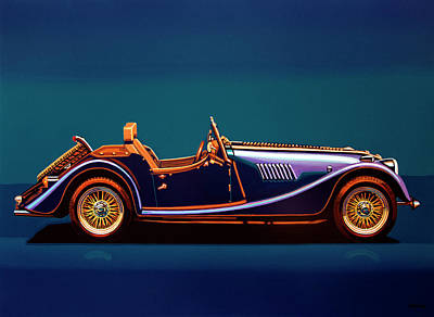 Ford Automobiles Painting - Morgan Roadster 2004 Painting by Paul Meijering