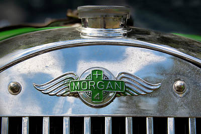 Photograph - Morgan Plus 4 Logo by Phil Cardamone
