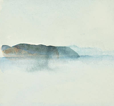 Painting - Morgondis Over Kusten - Morning Haze Over The Swedish Westcoast, Hunnebo_1211 Up To 70 X 70 Cm by Marica Ohlsson