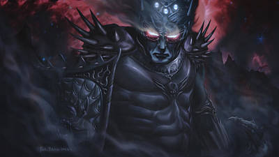 Silmarillion Painting - Morgoth  The Black Foe by Rick Ritchie