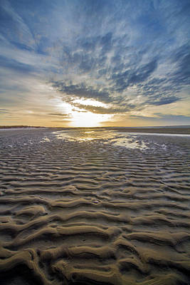 Photograph - Moriches Bay Sand Patterns by Robert Seifert