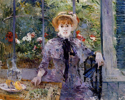 Berthe Digital Art - Morisot Berthe After Luncheon by Berthe Morisot