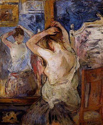 Berthe Digital Art - Morisot Berthe Before The Mirror by Berthe Morisot