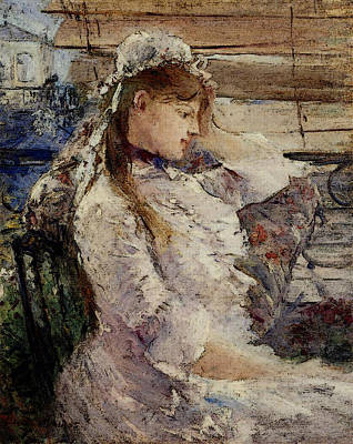 Berthe Digital Art - Morisot Berthe Behind The Blinds by Berthe Morisot