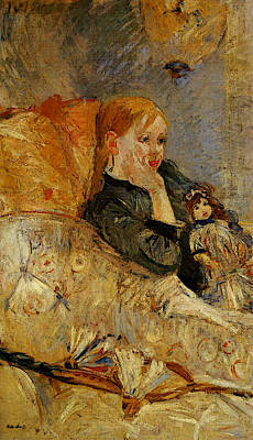 Berthe Digital Art - Morisot Berthe Little Girl With A Doll by Berthe Morisot